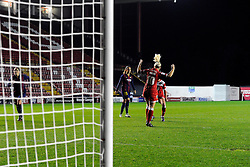 Bristol Academy Womens' Nikki Watts  celebrates  - Photo mandatory by-line: Joe Meredith/JMP - Mobile: 07966 386802 - 13/11/2014 - SPORT - Football - Bristol - Ashton Gate - Bristol Academy Womens FC v FC Barcelona - Women's Champions League