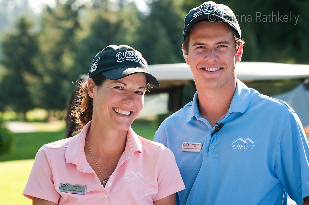 Maz and Brett are enthusiastic members of the guest services team at the Whistler Golf Course.