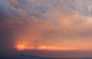 Sun sets with hazy smoke from the forest fires - 2011