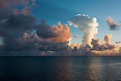 clouds over the ocean at sunrise in Bermuda