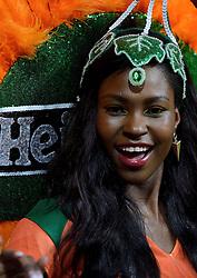 04-06-2014 NED: Vriendschappelijk Nederland - Wales, Amsterdam<br /> Nederland wint met 2-0 van Wales / Support Oranje publiek Samba danseressen, cheerleaders