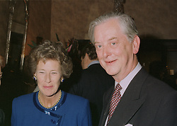 The HON.MRS & MR WILLIAM LEGGE-BOURKE parents of Tiggy Legge-Bourke, at an exhibition in London on April 24th 1997.LXY 87