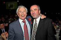 Lord Levy and David Munns, the 2011 MITs Award. Held at the Grosvenor Hotel London in aid of Nordoff Robbins and the BRIT School. Monday, Nov.7, 2011