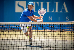 Enzo Couacaud of France during 2nd Round of Qualifications of ATP Challenger Tilia Slovenia Open 2016, on August 7, 2016 in Portoroz/Portorose, Slovenia. Photo by Vid Ponikvar / Sportida