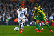 Pablo Hernandez of Leeds United (19) in action during the EFL Sky Bet Championship match between Leeds United and West Bromwich Albion at Elland Road, Leeds, England on 1 March 2019.
