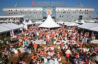 DEN HAAG - WK Hockey. Overzicht van het promodorp voor de wedstrijd van Nederland tegen Zuid Afrika voor Kyocera stadion.  COPYRIGHT  KOEN SUYK