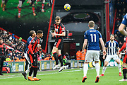 Simon Francis (2) of AFC Bournemouth heads the ball during the Premier League match between Bournemouth and West Bromwich Albion at the Vitality Stadium, Bournemouth, England on 17 March 2018. Picture by Graham Hunt.
