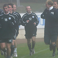 St Johnstone Training...17.10.03<br />Brian McLaughlin during training this monring in a fog bound McDiarmid Park.<br />See story by Gordon Bannerman Tel: 01738 553978<br />Picture by Graeme Hart.<br />Copyright Perthshire Picture Agency<br />Tel: 01738 623350  Mobile: 07990 594431