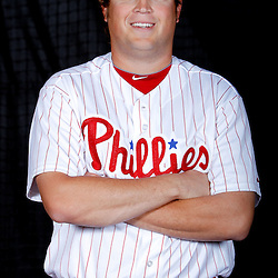 February 22, 2011; Clearwater, FL, USA; Philadelphia Phillies relief pitcher Mike Zagurski (59) poses during photo day at Bright House Networks Field. Mandatory Credit: Derick E. Hingle