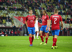 November 15, 2018 - Gdansk, Pomorze, Poland - David Pavelka (21) Tomas Soucek (15) Pavel Kaderabek (2) during the international friendly soccer match between Poland and Czech Republic at Energa Stadium in Gdansk, Poland on 15 November 2018  (Credit Image: © Mateusz Wlodarczyk/NurPhoto via ZUMA Press)