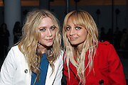 Ashley Olson and Nicole Richie at the DKNY New York Fashion Week show.