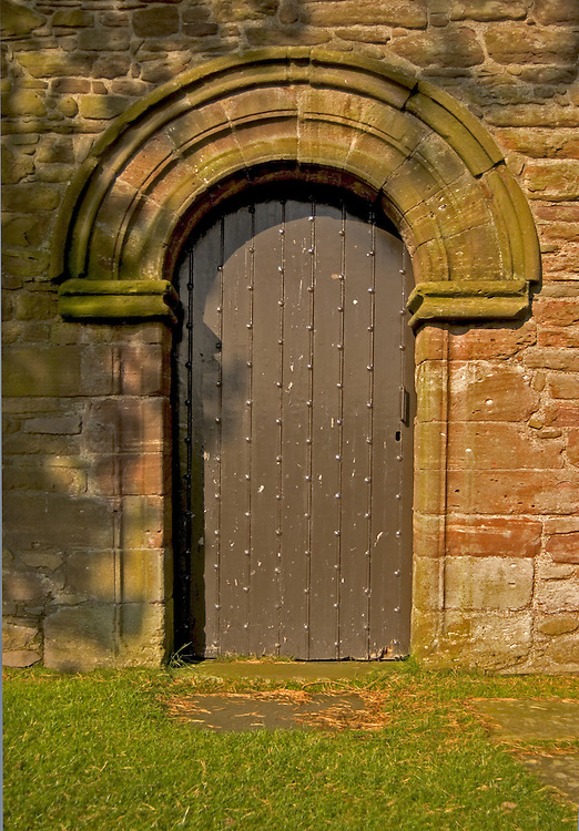 Studded door at Tullibardine Chapel, Perthshire<br />