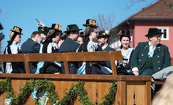 02.04.2018, Traunstein, GER, Georgi Ritt Traunstein 2018, im Bild Trachtengruppe // during the traditionell Georgi Ritt on Easter Monday in. in Traunstein, Germany on 2018/04/02. EXPA Pictures © 2018, PhotoCredit: EXPA/ Erst Wukits