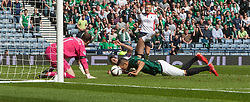 Hibernian's Farid El Alagui. <br /> half time : Hibernian 0 v 0  Falkirk, William Hill Scottish Cup semi-final, played 18/4/2015 at Hamden Park, Glasgow.