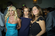 DONATELLA VERSACE; ALLEGRA VERSACE; ALEXANDRA SHULMAN, Vogue's Celebration of Fashion Dinner in association with Creme de la Mer. the Albermarle, Browns Hotel. Albermarle st. London. 18 September 2008. *** Local Caption *** -DO NOT ARCHIVE-© Copyright Photograph by Dafydd Jones. 248 Clapham Rd. London SW9 0PZ. Tel 0207 820 0771. www.dafjones.com.