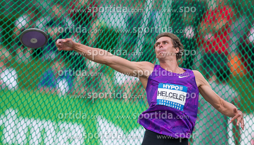 29.05.2016, Moeslestadion, Goetzis, AUT, 42. Hypo Meeting Goetzis 2016, Zehnkampf der Herren, Diskus, im Bild Adam Sebastian Helcelet (CZE) // Adam Sebastian Helcelet of Czech Republic in action during the discus throw event of the Decathlon competition at the 42th Hypo Meeting at the Moeslestadion in Goetzis, Austria on 2016/05/29. EXPA Pictures © 2016, PhotoCredit: EXPA/ Peter Rinderer