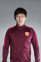 Portrait of Chinese soccer player Zhu Quan of Yanbian Funde F.C. for the 2017 Chinese Football Association Super League, in Namhae County, South Gyeongsang Province, South Korea, 11 February 2017.