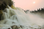 Grass River at Pisew Falls, Manitoba's second tallest waterfall<br /> Pisew Falls Provincial Park<br /> Manitoba<br /> Canada