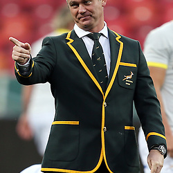 PORT ELIZABETH, SOUTH AFRICA - JUNE 27: Heyneke Meyer (Head Coach) of South Africa during the South African National rugby team captains run and official team photograph at Nelson Mandela Bay Stadium on June 27, 2014 in Port Elizabeth, South Africa. (Photo by Steve Haag/Gallo Images)