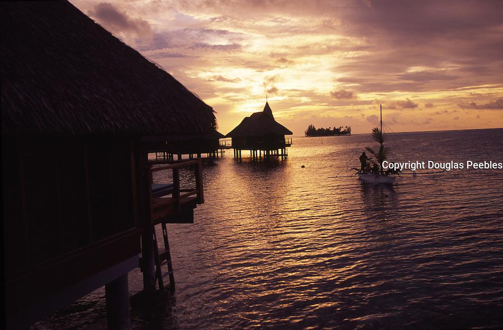 Sunset paddle, Bora Bora Lagoon Resort, French Polynesia<br />