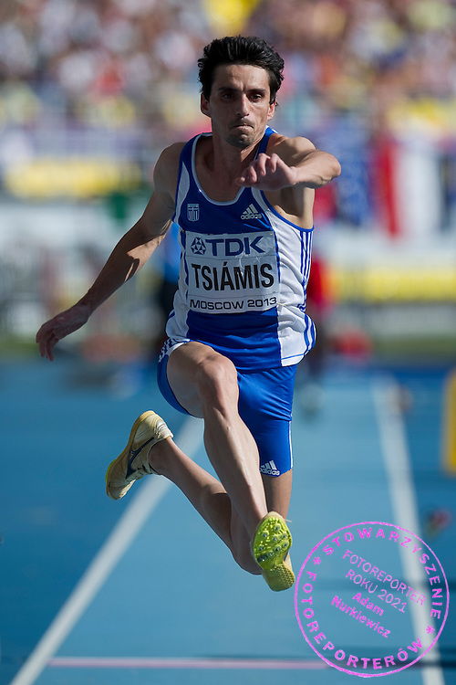 Dimitrios Tsiamis from Greece competes in men's long jump final during the 14th IAAF World Athletics Championships at the Luzhniki stadium in Moscow on August 18, 2013.<br /> <br /> Russian Federation, Moscow, August 18, 2013<br /> <br /> Picture also available in RAW (NEF) or TIFF format on special request.<br /> <br /> For editorial use only. Any commercial or promotional use requires permission.<br /> <br /> Mandatory credit:<br /> Photo by &copy; Adam Nurkiewicz / Mediasport