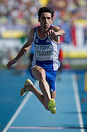 Dimitrios Tsiamis from Greece competes in men's long jump final during the 14th IAAF World Athletics Championships at the Luzhniki stadium in Moscow on August 18, 2013.<br /> <br /> Russian Federation, Moscow, August 18, 2013<br /> <br /> Picture also available in RAW (NEF) or TIFF format on special request.<br /> <br /> For editorial use only. Any commercial or promotional use requires permission.<br /> <br /> Mandatory credit:<br /> Photo by © Adam Nurkiewicz / Mediasport