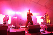 EL-P performs during the second day of the 2007 Bonnaroo Music & Arts Festival on June 15, 2007 in Manchester, Tennessee. The four-day music festival features a variety of musical acts, arts and comedians..Photo by Bryan Rinnert.