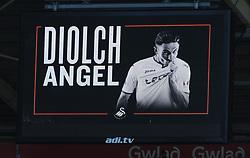 A billboard message thanking<br /> Angel Rangel of Swansea City for his services to the club-Mandatory by-line: Nizaam Jones/JMP- 13/05/2018 - FOOTBALL - Liberty Stadium - Swansea, Wales - Swansea City v Stoke City - Premier League