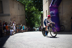 Stephanie Pohl (GER) of Cervélo-Bigla Cycling Team rides near the top of the final climb of Stage 5 of the Giro Rosa - a 12.7 km individual time trial, starting and finishing in Sant'Elpido A Mare on July 4, 2017, in Fermo, Italy. (Photo by Balint Hamvas/Velofocus.com)