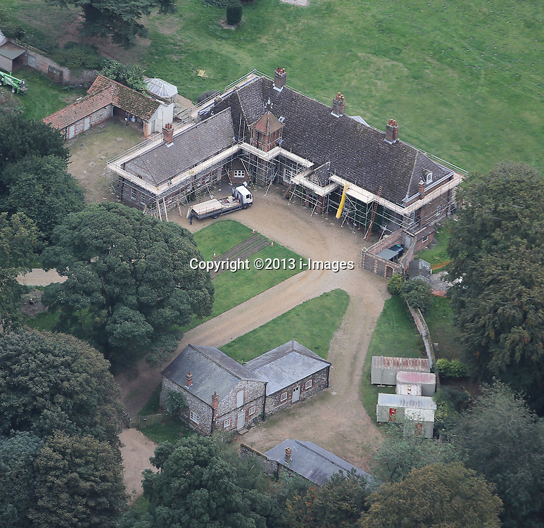 Aerial Views of the Anmer Hall in Anmer.<br /> The future country house for the Duke and Duchess of Cambridge, Aerial Views of Anmer Hall in Anmer,  Sandringham, Norfolk, United Kingdom. Sunday, 6th October 2013. Picture by i-Images
