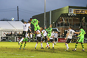 Forest Green Rovers Ethan Pinnock(16) heads the ball scores a goal 1-4 during the Vanarama National League match between Bromley FC and Forest Green Rovers at Hayes Lane, Bromley, United Kingdom on 7 January 2017. Photo by Shane Healey.