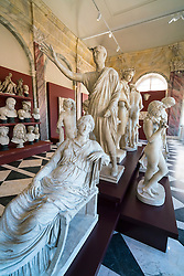 Sculptures on display at Gemäldegalerie Alte Meister or Zwinger Museum in Dresden, Germany .Editorial Use Only.