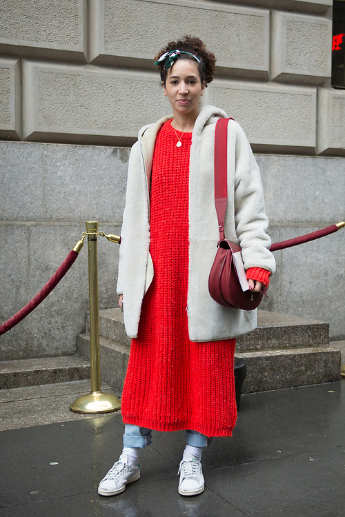 Red Knit Dress, Outside Victoria Beckham FW2017