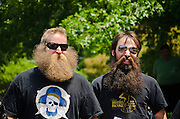 Contestants in the 1st Uptown Pitman Beard & Mustache Competition.