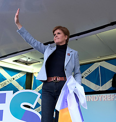 Independence Rally, Glasgow, Saturday 2nd November 2019<br /> <br /> Pictured: Nicola Sturgeon<br /> <br /> Alex Todd | Edinburgh Elite media