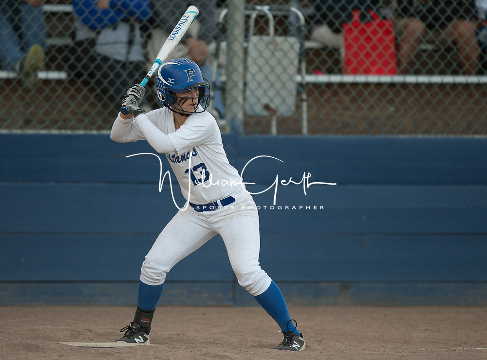 (Photograph by Bill Gerth/ for Max Preps5/25/17) Watsonville vs Pioneer in the CCS semi finals softball game at PAL Stadium, San Jose CA on 5/25/17.