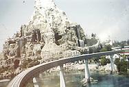 Matterhorn seen from monorail. Disneyland vacation Kodachromes from 1962.