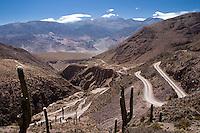 QUEBRADA DE HUMAHUACA, CAMINO A LA GARGANTA DEL DIABLO, TILCARA, PROV. DE JUJUY, ARGENTINA