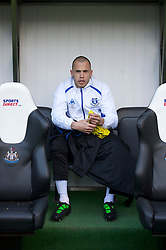 NEWCASTLE, ENGLAND - Saturday, March 5, 2011: Everton's substitute John Heitinga during the Premiership match against Newcastle United at St. James' Park. (Photo by David Rawcliffe/Propaganda)