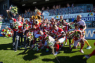 ZWOLLE, PEC Zwolle - PSV, voetbal, Eredivisie seizoen 2015-2016, 07-05-2016, IJsseldelta Stadion, PSV is kampioen.