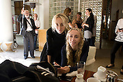 CARLA SOZZANI; FRANCA SOZZANI, The Moncler Duck toy interpreted by artist Stuart Semple. Presented by Fraca Sozzani. Raleigh Hotel Miami Beach. 5 December 2008 *** Local Caption *** -DO NOT ARCHIVE-© Copyright Photograph by Dafydd Jones. 248 Clapham Rd. London SW9 0PZ. Tel 0207 820 0771. www.dafjones.com.