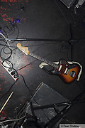A guitar lying on the floor, The Junk Club, Southend, UK 2006