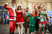 Dart fans in fancy dress during the World Darts Championship at Alexandra Palace, London, United Kingdom on 23 December 2015. Photo by Shane Healey.