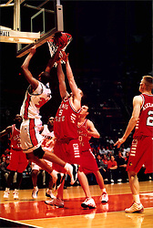 December 18, 2001:  Fighting Illini basketball player Brian Cook and Illinois State Redbirds basketball player Andy Strandmark..This image was scanned from a print.  Image quality may vary.  Dust and other unwanted artifacts may exist.