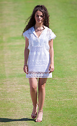 LIVERPOOL, ENGLAND - Saturday, June 17, 2017: Model Cassielle Simms during Day Three of the Liverpool Hope University International Tennis Tournament 2017 at the Liverpool Cricket Club. (Pic by David Rawcliffe/Propaganda)