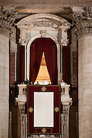 VATICAN CITY - 13 MARCH 2013: The new pope, Argentinian cardinal Jorge Mario Bergoglio appears at the central  balcony of St Peter's Basilica's  after being elected the 266th pope of the Roman Catholic Church on the second day of the conclave, in Vatican City on March 13, 2013...On March 12, 2013, the 115 cardinals entered the conclave to elect a successor to Pope Benedict XVI after he became the first pope in 600 years to resign from the role. The conclave will take place inside the Sistine Chapel and will be attended by 115 cardinals as they vote to select the 266th Pope of the Catholic Church.