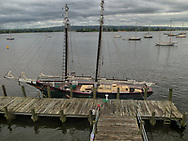The Mary E. Schooner at the Connecticut River in Essex.