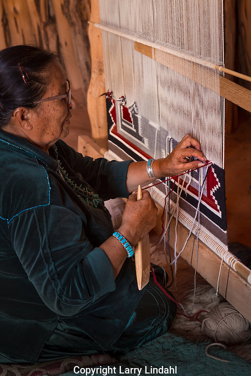Lucy Fatt, Navajo rug weaver, Monument Valley, Arizona