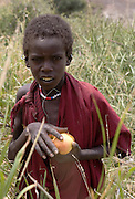 Masai girl with apple the Ngorongoro Conservation Area or NCA is a conservation area situated 180 km west of Arusha in the Crater Highlands area of Tanzania.