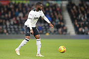 Derby County defender Fikayo Tomori during the EFL Sky Bet Championship match between Derby County and Millwall at the Pride Park, Derby, England on 20 February 2019.